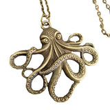 Octopus Steampunk Bronze necklace