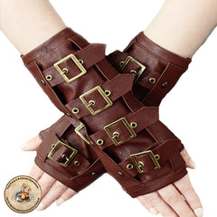 Steampunk Gloves | Steampunk Accessories | Brown Steampunk Gloves | Steampunk Clothing | Restyle Clothing | Alternative Clothing