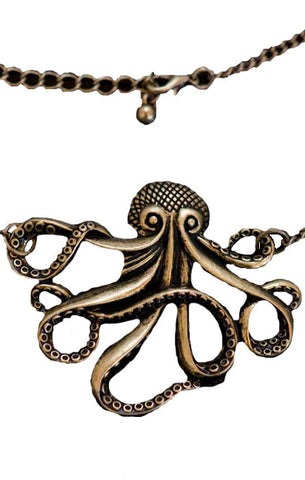 Steampunk Necklace Octopus Steampunk Bronze necklace
