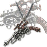Steampunk Neklace, Steampunk jewellery wave Gun necklace