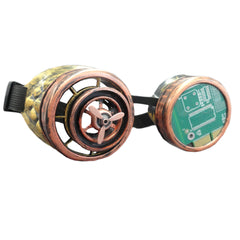 Propeller Action Steampunk Goggles
