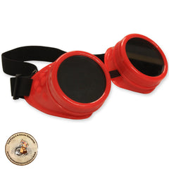 Steampunk Goggles in Red | Red Cyber Goggles | Cheap Steampunk Goggles | Plastic Steampunk Goggles