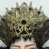 Gothic Crown | Gothic Headdress | Russian Style Lace Crown | Russian Headdress