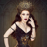 Gothic Crown | Gothic Headdress | Gold Crown | Russian Style Gothic Headdress