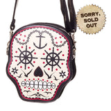 Skulls Handbag | Gothic Skull Bag | Sea Skull Small Candy Handbag | Nautical Handbag | Day of the Dead Bag | Sugar Skull Bag