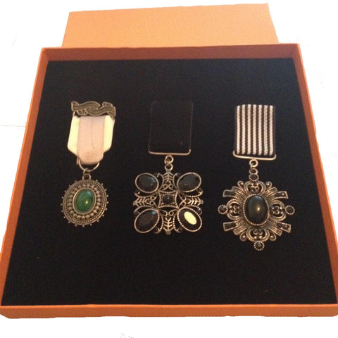 Set of 3 Steampunk Medals