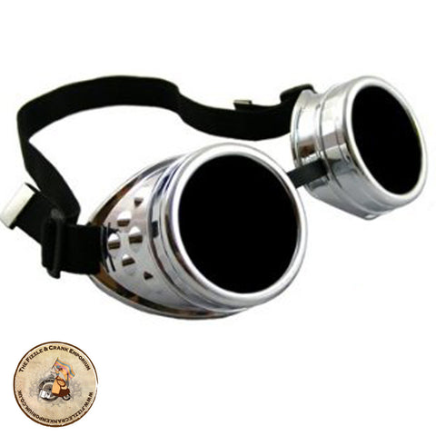 Steampunk Goggles in Silver | Cyber Goggles | Gothic Goggles