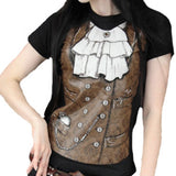 Sky Captain Jenna T-Shirt | Steampunk T-Shirt | Gothic T-Shirt | Alternative T-Shirt | Victorian T-Shirt