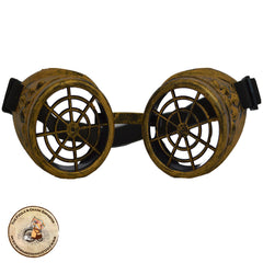 Spider Cog Steampunk Goggles in Brass