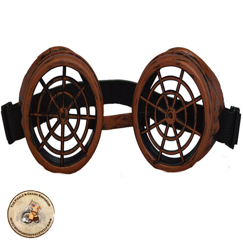 Spider Cog Steampunk Goggles in Copper