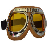 Brown Biker Goggles