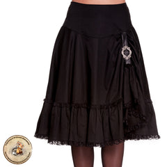 Steampunk Skirt | Vintage Gothic Black Skirt | Henrietta Skirt | Popsoda Skirt | Alternative Clothing | Steampunk Clothing