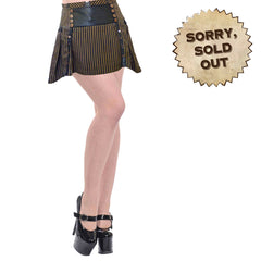 Steamraiser Short Striped Steampunk Skirt (SOLD OUT)