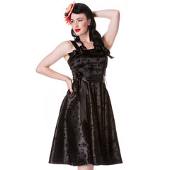 Rockabilly Gothic | Retro Gothic Dress | Steampunk Dress | Tattoo Dress | Fifties Gothic Dress | Black Party Dress | Gothic Party Dress | Gothabilly Dress | Hell Bunny Dress