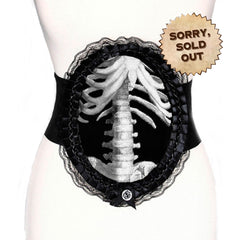 Talia Cameo Waspie Belt - Skeleton (SOLD OUT)