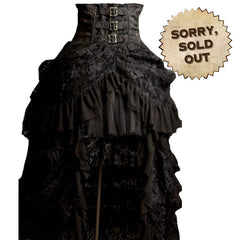 Gorgeous Gothic Victorian Ruffle Skirt with High Waist