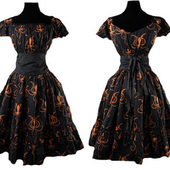 Black & Orange Octopus Steampunk Dress. Plus Size Steampunk Dress. Steampunk Halloween Costume.