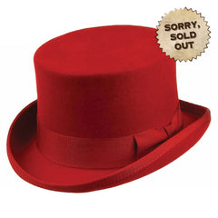 Red Top Hat | Victorian Top Hat | Steampunk Top Hat | Top Hat | Womens Top Hat | Mens Top Hat | Unisex Top Hat