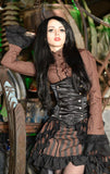 Brown Steampunk Shirt with Black Jabot. Frilled shirt with great sleeves looks great with steampunk corsets 3