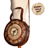 Victorian Vintage Clock Large Steampunk Bag