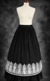 Steampunk Victorian Crinoline Black Circle Skirt. Goth Long black Skirt. Skirt Image.