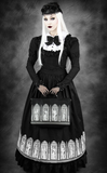 Steampunk Victorian Crinoline Black Circle Skirt. Goth Long black Skirt. All Image.