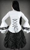 Steampunk Shirt, Victorian Shirt, Goth Shirt, Shirt with Jabot, Steampunk Clothing UK Back Image
