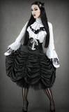 Steampunk Shirt, Victorian Shirt, Goth Shirt, Shirt with Jabot, Steampunk Clothing UK Skirt Image
