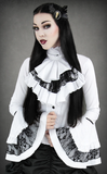 Steampunk Shirt, Victorian Shirt, Goth Shirt, Shirt with Jabot, Steampunk Clothing UK Main Image