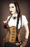 Steampunk Corset, Underbust Steampunk Corset, Steampunk Clothing UK front Image