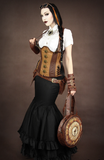 Steampunk Corset, Underbust Steampunk Corset, Steampunk Clothing UK Main Image