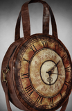 Steampunk Bag. Round Victorian style bag. Steampunk Schoolbag. Large Clock-face bag. Steampunk Clothes.