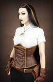 Steampunk Corset, Underbust Steampunk Corset, Steampunk Clothing UK main view