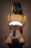Steampunk Corset, Underbust Steampunk Corset, Steampunk Clothing UK lacing Image