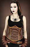 Steampunk Corset, Underbust Steampunk Corset, Steampunk Clothing UK front view