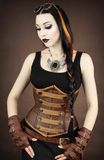 Steampunk Corset, Underbust Steampunk Corset, Steampunk Clothing UK down view