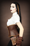 Steampunk Corset, Underbust Steampunk Corset, Steampunk Clothing UK side view