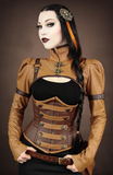 Steampunk Corset, Underbust Steampunk Corset, Steampunk Clothing UK top view