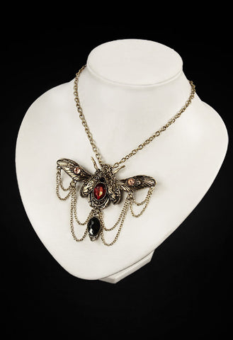 Jewelled Beetle Steampunk Necklace