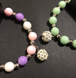 Starlet Shimmer Multi-Colored Bracelets With Disco Ball Beads