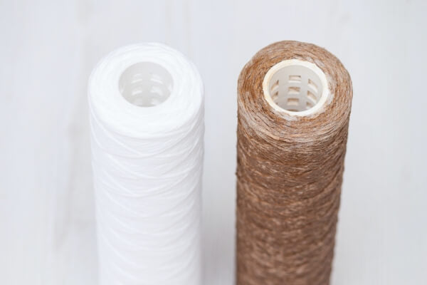 clean and dirty water filter cartridges