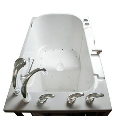 "Low Threshold 30"" x 52"" x 36"" Transfer Tub Air Jetted"