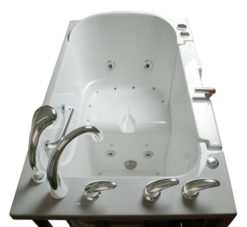 "Low Threshold 30"" x 52"" x 36"" Transfer Tub Dual Jetted"