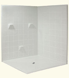 "6060 Side Barrier Free Shower with 1.25"" Threshold"