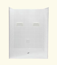 "6060 Barrier Free Shower with 1.12"" Threshold"