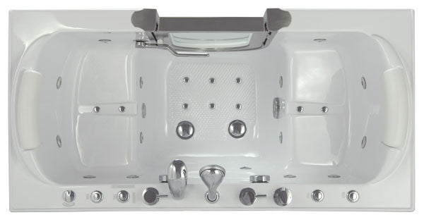 walk in tub for two.  Walk In Tub 30 25 X 59 75 37 Two Person Acrylic Mobility