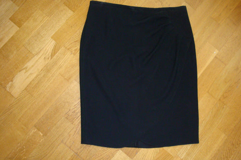 armani collezioni black faux wrap pencil skirt - size 12