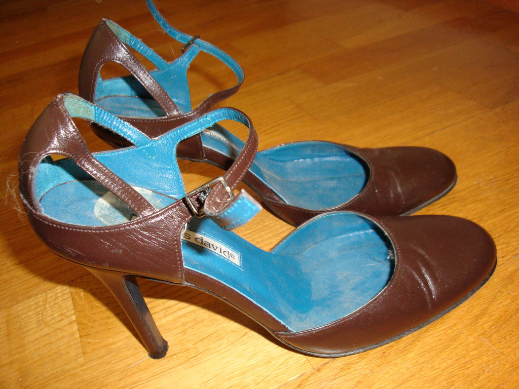 charles david brown mary janes - size 7