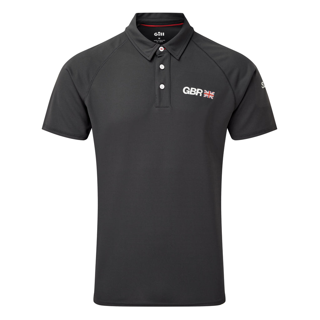 Great Britain SailGP Team: UV Tec Polo - Charcoal
