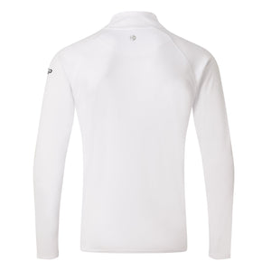 Great Britain SailGP Team: UV Tec Long Sleeve Zip T-Shirt - White (4328037679200)